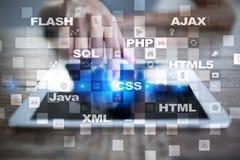 Webontwikkeling programmering Internet en technologieconcept Stock Afbeelding