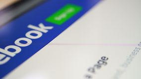 Webpage επίδειξης Facebook απόθεμα βίντεο