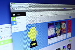 Webpage παιχνιδιού Google Στοκ Εικόνες
