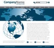 webpage конструкции гловальный Стоковое Фото