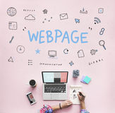 Webpage Browser Digital Icon Symbols Concept royalty free stock photo