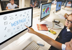 Webpage Browser Digital Icon Symbols Concept Stock Image
