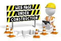 webpage 3D under konstruktionsbegrepp Arkivbilder