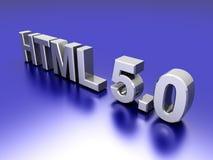 Webpage HTML 5.0 Stock Image