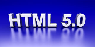 Webpage HTML 5.0 Stock Images