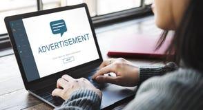 Webpage Online Communication Speech Concept. Webpage Online Communication Speech Advertisement royalty free stock photos