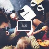Webpage Team Concept för idéer för kaffeavbrott idérik Royaltyfri Bild