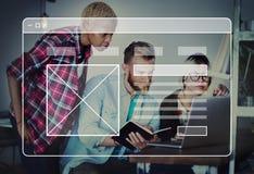 Webpage technologii strony internetowej Onlinego oprogramowania pojęcie Obraz Stock