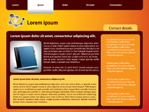 Webpage template design Stock Photography