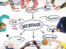 Webpage wyszukiwarki dane Cyfrowego Internetowej sieci pojęcie Zdjęcie Royalty Free