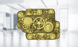 Webpictogram als concept teamwoking en samenwerking voorgesteld door g Stock Fotografie