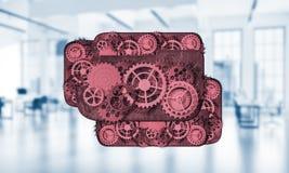 Webpictogram als concept teamwoking en samenwerking voorgesteld door g Stock Foto's