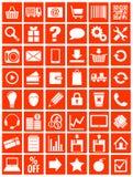 Webpictogrammen voor eshop, vlak ontwerp Stock Afbeelding