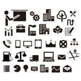 Webpictogrammen voor veel ding Stock Afbeeldingen