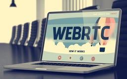 Webrtcconcept op Laptop het Scherm 3d Stock Afbeelding