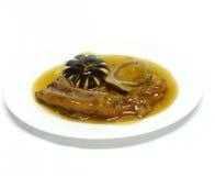 Webs entiers d'oie d'ormeau frits par émoi Photographie stock
