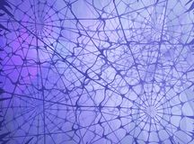 Webs Light Abstract. Webs shadow, blue purple color light abstract 3d illustration, horizontal Royalty Free Stock Photography