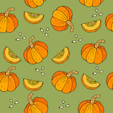 WebSeamless Halloween background with pumpkins. Stock Photos