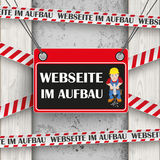 Webseite im Aufbau Concrete Wood Worker Royalty Free Stock Images