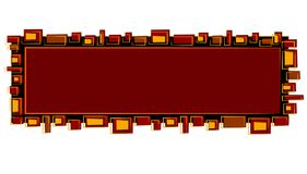 Webseiten-Zeichen-rotes schwarzes Gold lizenzfreie abbildung