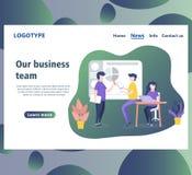 Webseitenentwurfsschablonen für Geschäftsteam lizenzfreie abbildung