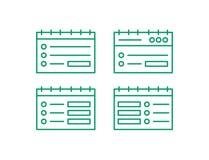 Webseitenikonensatz Editierzeilelogo Anmerkungs-Vektor illustation vektor abbildung