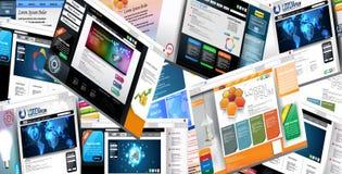 WebseitenKonzept des Entwurfes Lizenzfreies Stockbild