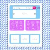 Webseitenschablone für Online-Shop Lizenzfreies Stockfoto