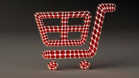 Webshop basket sign stock images