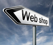 Webshop or internet web shop icon Stock Photo