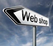 Webshop or internet web shop icon. Web shop online internet shopping webshop icon or button vector illustration