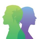 WebSilhouette głowa Zdjęcia Stock