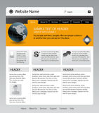 Website. Vector editable website template for design Stock Photo