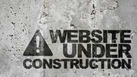 Website in aanbouw! stock fotografie