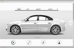 Website Advertising Car Homepage New Arrival Concept Stock Images
