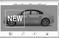 Website Advertising Car Homepage New Arrival Concept Royalty Free Stock Photo