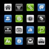 Website & de Reeks van Internet // Gelbox stock illustratie
