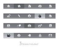 Website & Internet plus de Reeks van // Gelbar stock illustratie