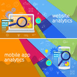 Website analytics search information and computing data analysis Stock Photos