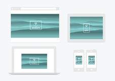 Website and app presentation  devices Royalty Free Stock Photo