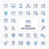 Web & App Developer Icon Set stock photography