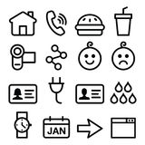Website, application  line icons set Stock Image