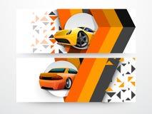 Website automobile header or banner. Stock Images