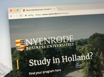 Website av det Nyenrode affärsuniversitetet Arkivfoto
