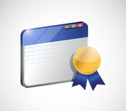 Website award and security. illustration design Royalty Free Stock Image