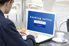 Website of banking online Stock Image