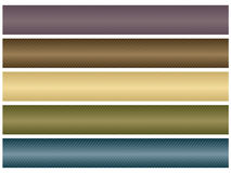 Website banner bars. Five neutral colored header or banner bars for website use Royalty Free Stock Photos