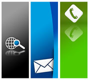 Website banner design Royalty Free Stock Images