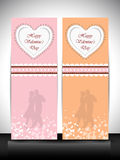 Website banner for Happy Valentines Day. Stock Photo