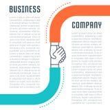 Website Banner和Landing Page Business Company 免版税库存照片
